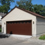 Simple Minneapolis 2 car garage build measuring 24' by 22'.
