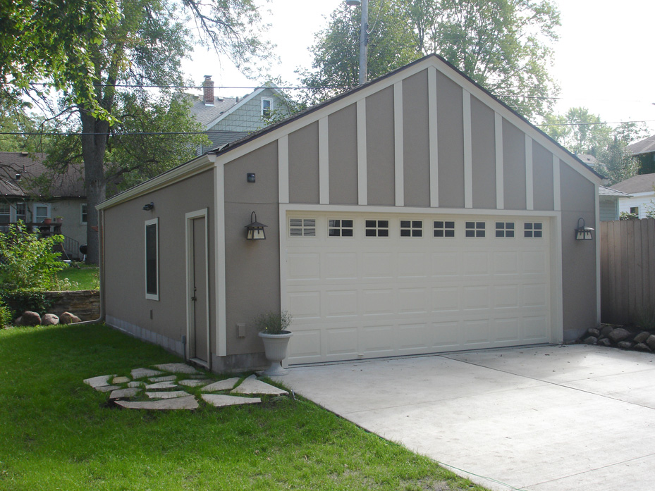 Garages fusion home improvement for Stucco garage