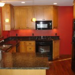 We removed the wall dividing the kitchen and dining room to open up this Mpls kitchen remodel