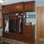 Bloomington mudroom custom made lockers.