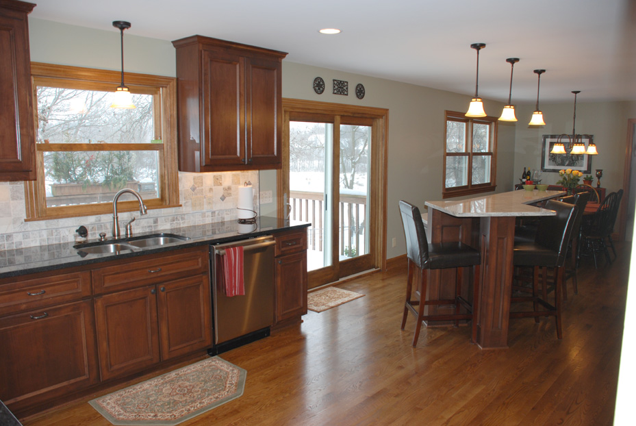 Bloomington Kitchen Remodel Expanded Into The Dining Room For An Open Floorplan