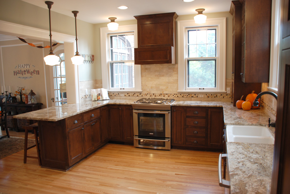Minneapolis, MN Kitchen Remodel With Custom Stained Alder Cabinets And  Granite Countertops.