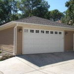 Edina 2 car garage build with Hardie siding, architectural roof and maitenance free trim.