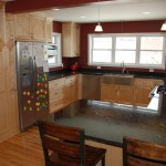 Minneapolis kitchen remodel with custom made Maple shaker style cabinetry.