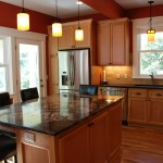 St Paul kitchen remodel with shaker style Alder cabinetry.