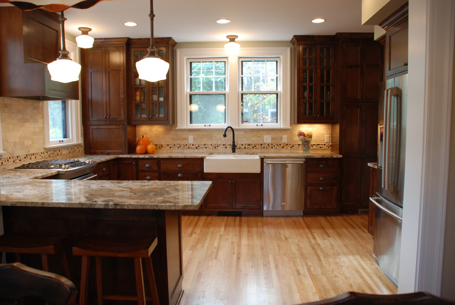 Minneapolis Kitchen Remodel Combined With Wall Removal Creating An Open Concept Vintage Styling Throughout