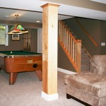 Basement remodel pool table room and egress window in Edina, MN